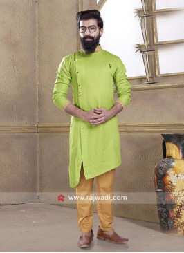 Pathani Suit in Rama Green