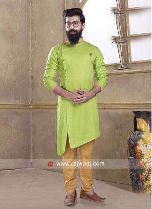 Pathani Suit in Rama Green