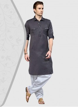 Pathani Suit in Grey