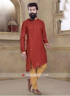 Stylish Pathani Suit in Maroon