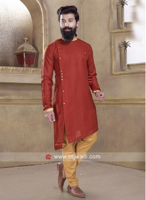 Stylish Pathani Suit in Maroon