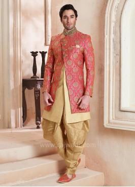 Patiala Style Brocade Silk Indo Western