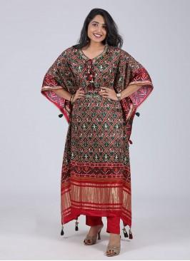 Patola Printed Kaftan Style Kurti Set