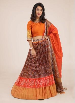 Patola Printed Silk Choli Suit