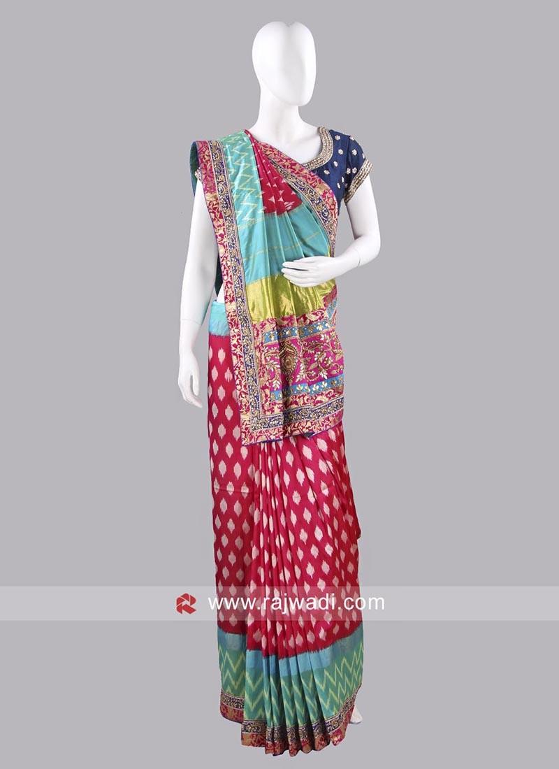 Patola Saree with Blouse Fabric