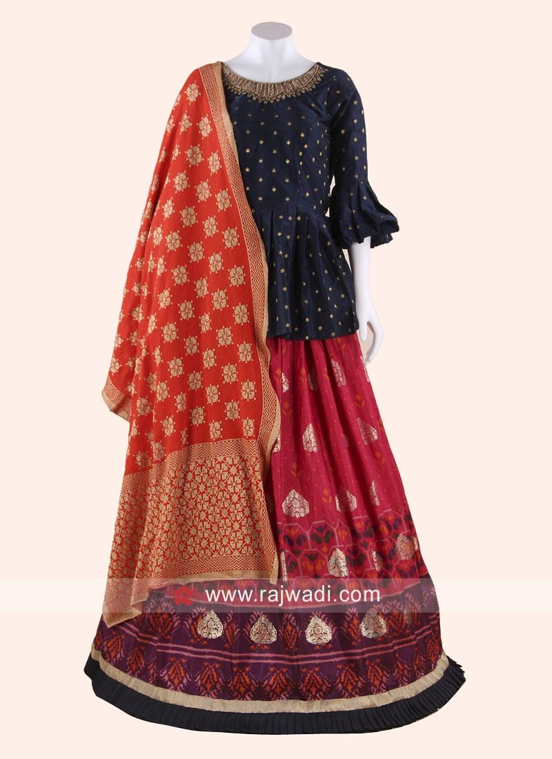 Patola Silk Designer Choli Suit