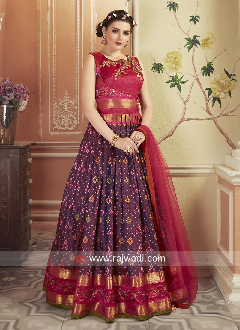 Patola Silk Embroidered Wedding Gown