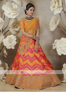 patola silk lehenga choli in multi color