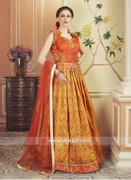 Patola Silk Printed Floor Length Gown