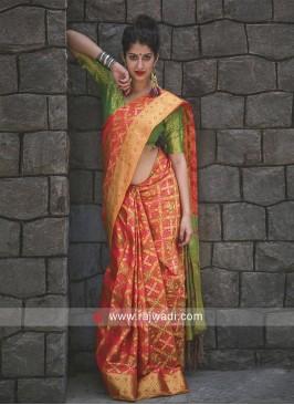 Patola Silk Saree with Blouse