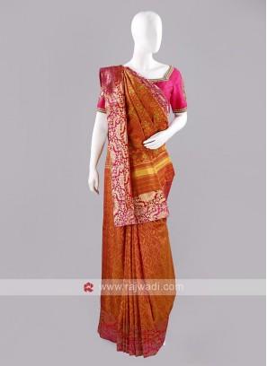 Patola Silk Sari with Blouse Piece