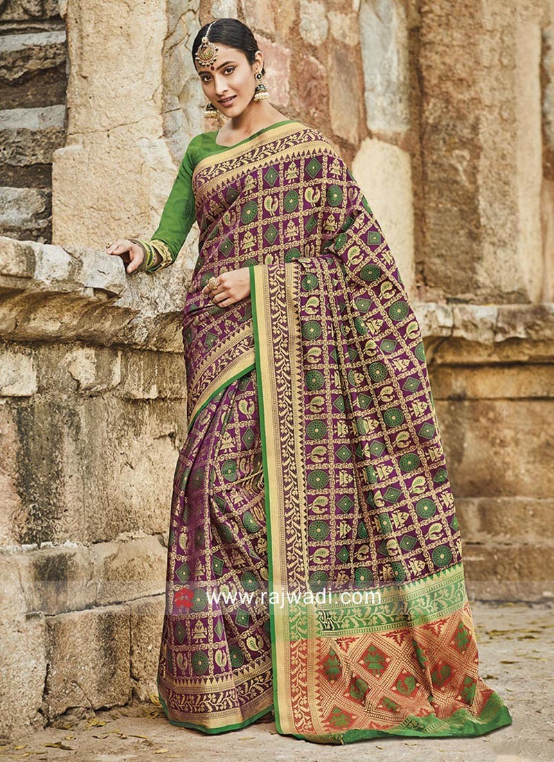 Patola Silk Weaved Heavy Saree