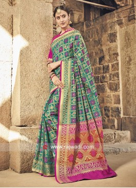 Patola Silk Weaving Work Saree