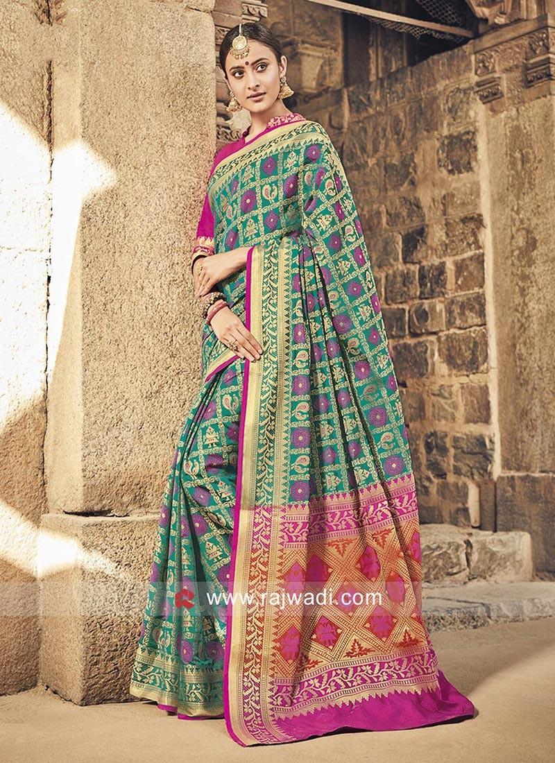 Patola Silk Weaving Work Saree