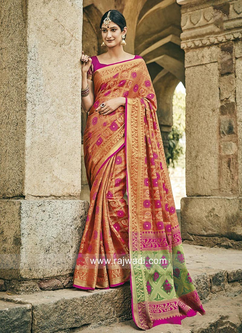 Patola Style Saree with Blouse