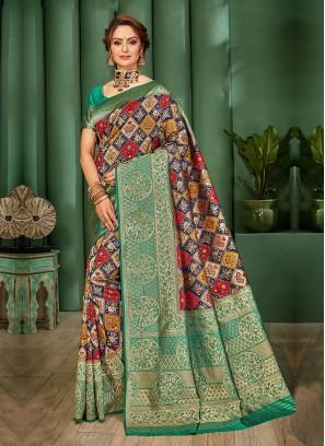 Patola Work Banarasi Silk Saree