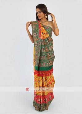Patola Work Silk Saree