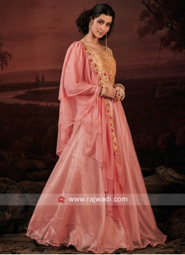 Peach and Light Pink Lehenga Choli