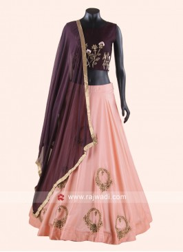 Peach and Maroon Lehenga Choli