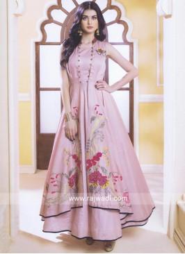 Peach Asymmetric Style Salwar Suit