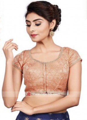 Peach Blouse in Lace Work