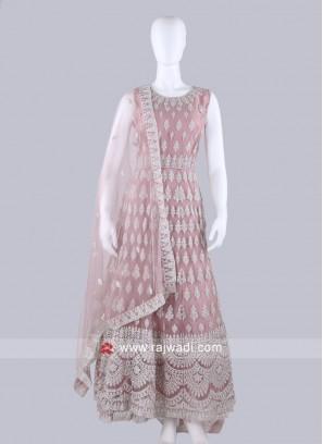 Peach Color Anarkali Suit with dupatta