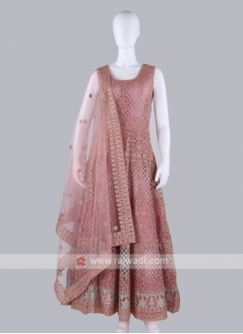 Peach Color Anarkali Suit with dupatta