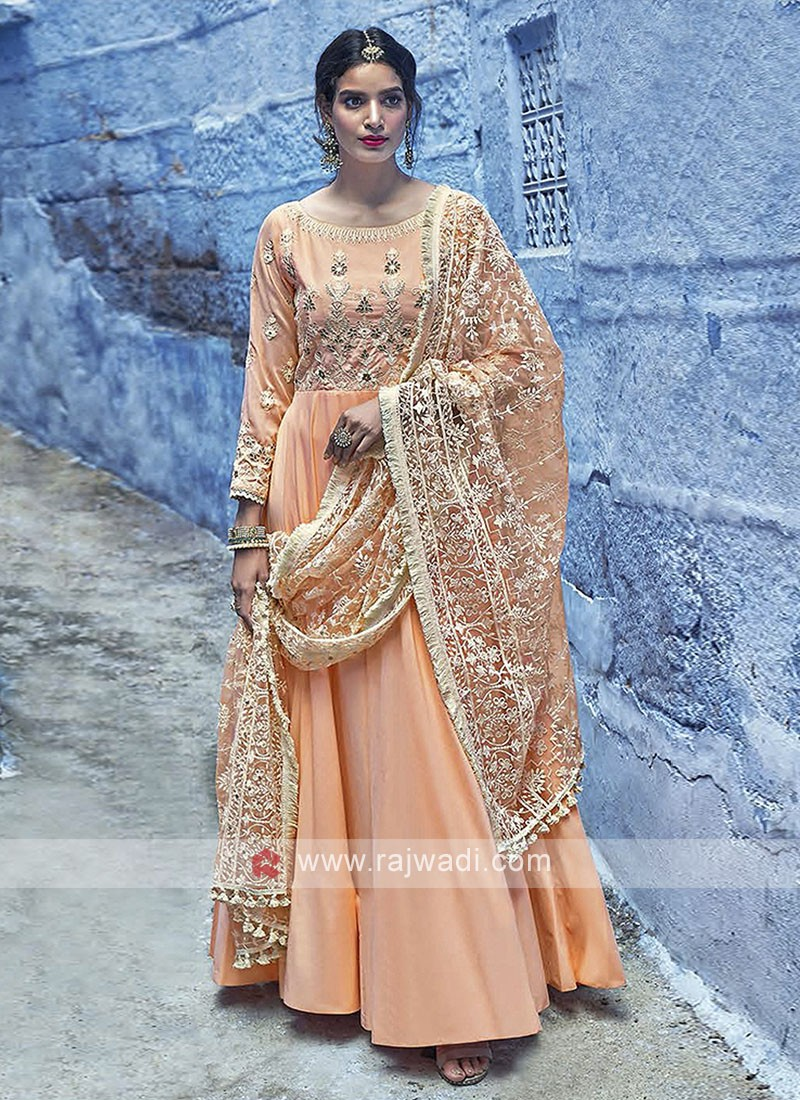 Peach Color Anarkali Suits