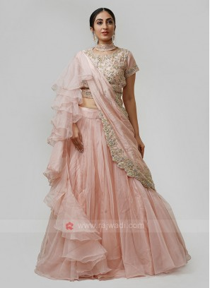 Peach Color Choli Suit