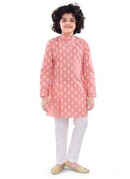Peach Color Cotton Kurta Pajama