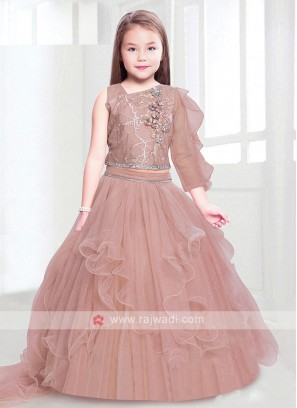 Peach Color Girl Choli Suit