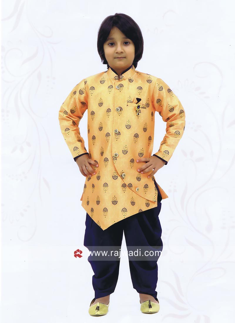 Yellow Color Kids Indo Western