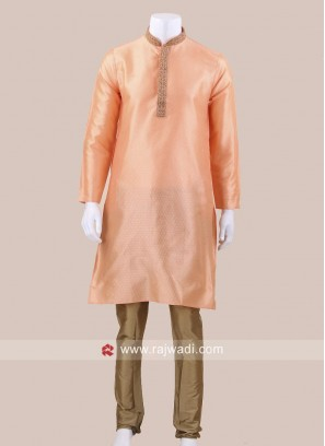 Peach Color Kurta Pajama