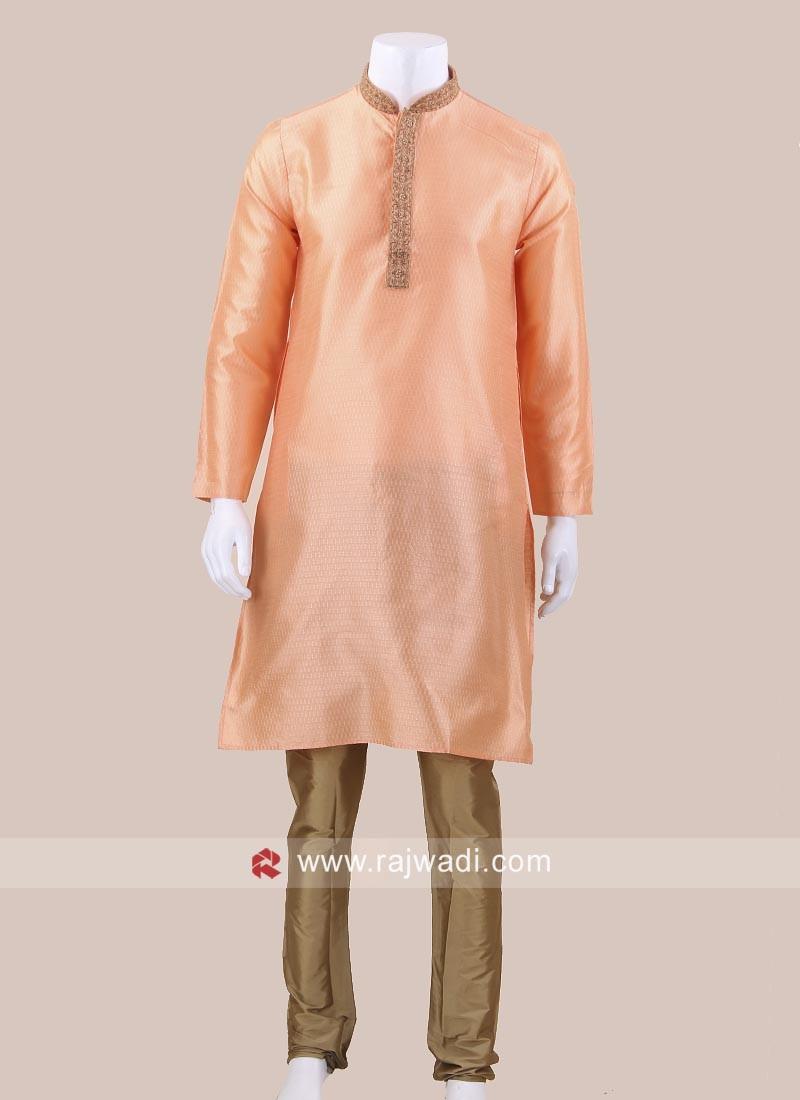 Peach Color Kurta Pajama