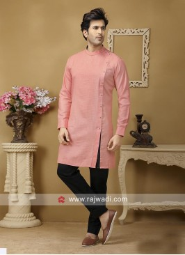Peach Color Kurta Set