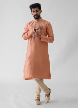 Peach Color Kurta Pajama For Wedding