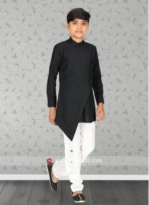 Black Color Kurts Set For Boys