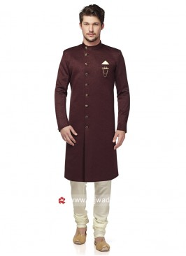 Stylish Wine Color Indo Westerrn