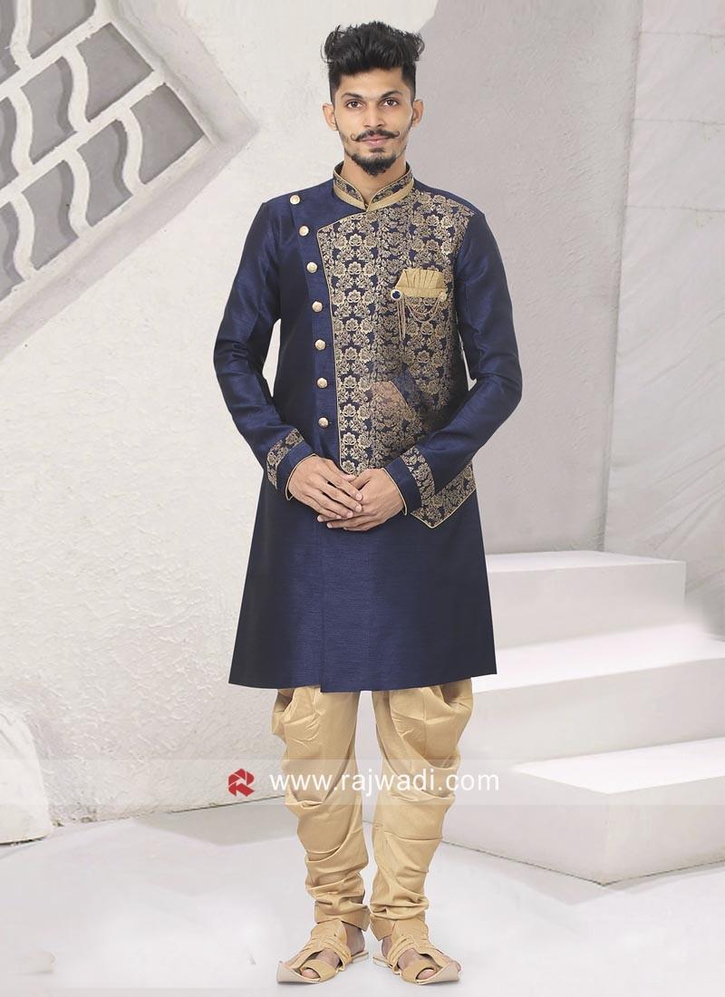 Wedding Indo Western In Blue