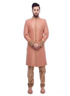 Peach Color Sherwani