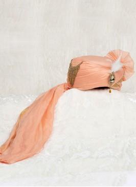 Peach Color Wedding Turban