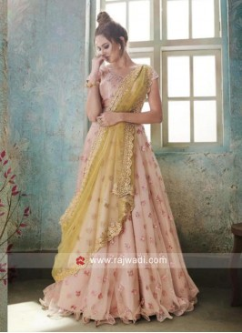 Peach Designer Wedding Lehenga Choli