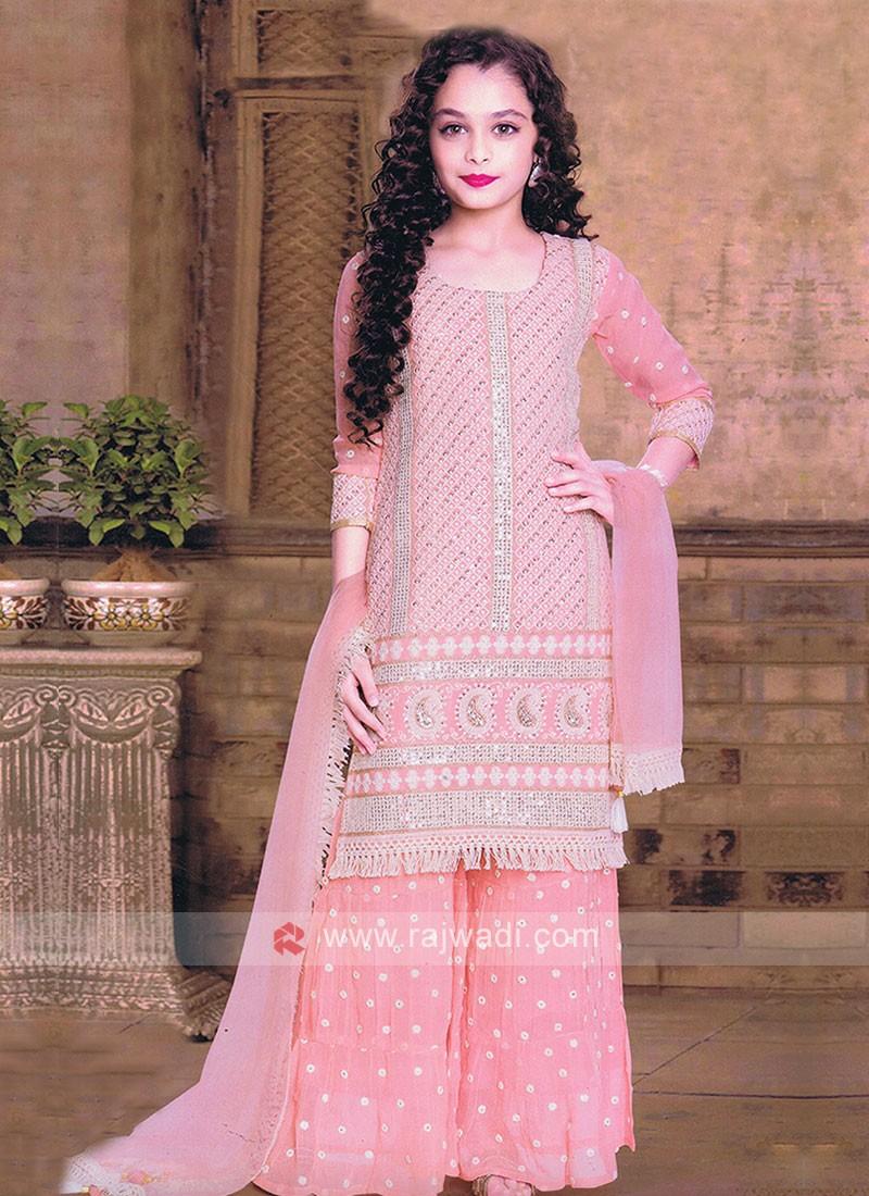Peach Girls Salwar Suit