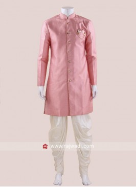 Peach Indo Western For Mens