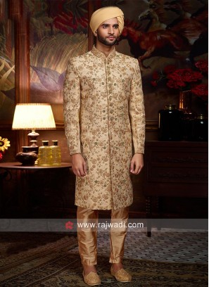 Designer Golden Color Sherwani