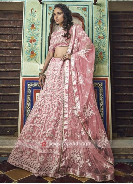 Peach Lehenga Choli With Matching Dupatta