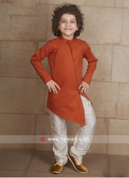Rust Party Wear Pathani Suit