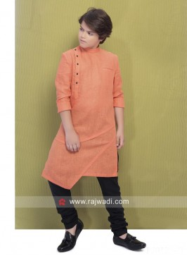 Peach Party Wear Pathani Suit
