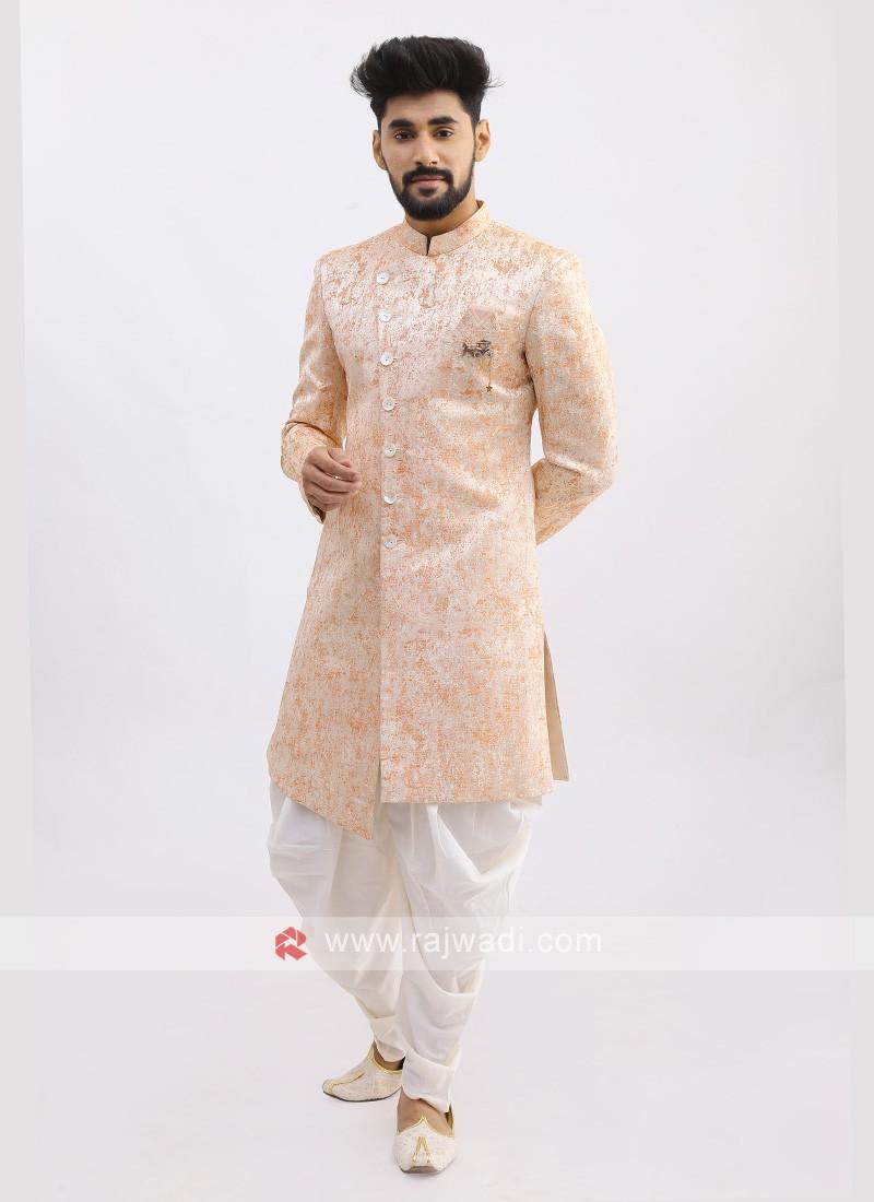 Peach Silk Indo Western