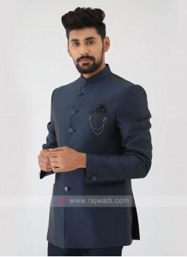Peacock Blue Jodhpuri Suit